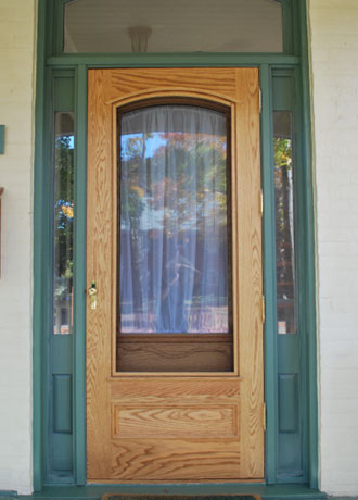 made photo diego with built frame territorial san hand door in wooden screen doors style custom wood gallery